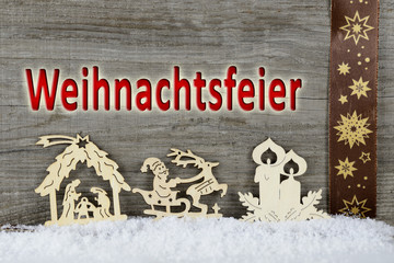 Weihnachten Hintergrund aus Hoz mit Figuren