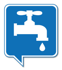 Logo robinet.. Plombier.