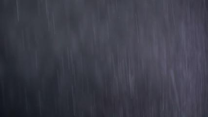 macro footage of rain particles