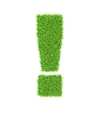 Grass alphabet exclamation mark