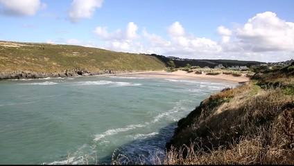 Porthcothan Bay Cornwall England UK Cornish north coast