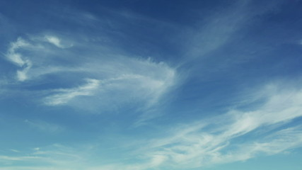timelapse footage of cirrus clouds
