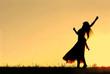 Woman Dancing Silhouette - 72689639