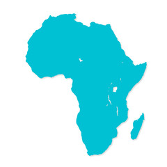 Turquoise image of modern Africa map