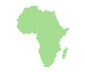 Image of modern optimally dotted Africa map