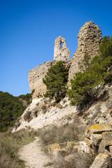 Ruins of the castle at Farfania, Catalonia, Spain