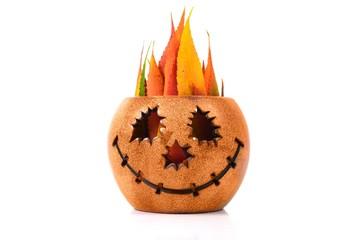 Halloween pumpkin at white background