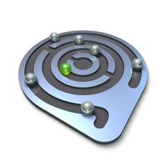 Rundes Labyrinthspiel