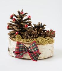 Ozdoba świąteczna z szyszek