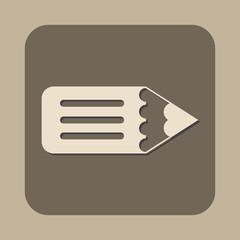 flat pencil vector icon