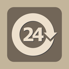 open 24 hours vector icon
