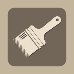 paint brush flat vector icon