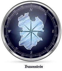 Karte von Traunstein
