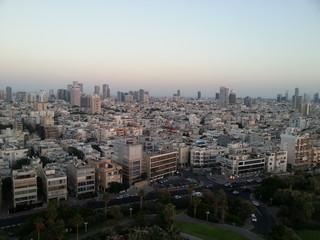 Cityscape during sunset. Tel Aviv, Israel.