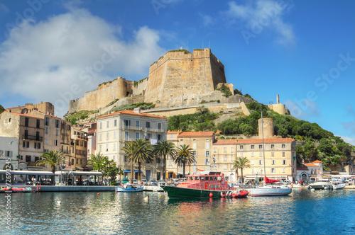 canvas print picture The Port de Plaisance of Bonifacio, Corsica, France