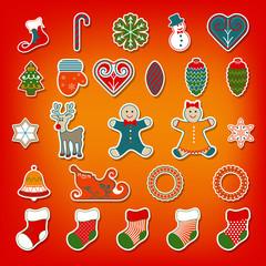 Christmas stickers set