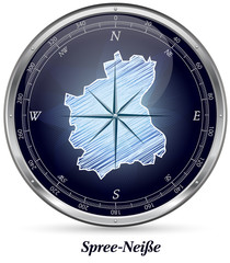 Karte von Spree-Neisse