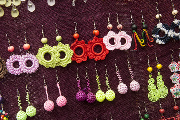 Women Fashion Accessories - Various Items Of Crocheted Earrings