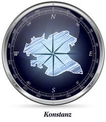 Karte von Konstanz