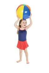 Child pool play ball