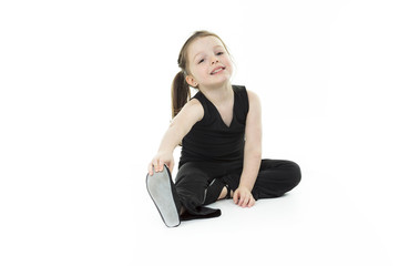 Dance child stretching