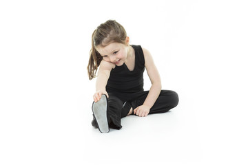 Dance child stretching