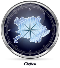 Karte von Giessen