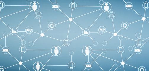 abstract social network and technology background