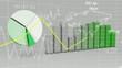 World Map Statistic Data Graph Green Loop Finance Background