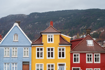 traditional houses in Bergen, Norway