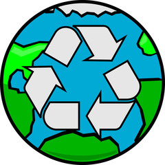 Clean Earth Recycle Green Planet