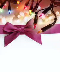 Christmas lights and bow