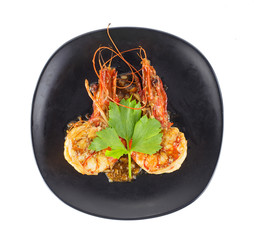 dish of fried shrimp with garlic and pepper