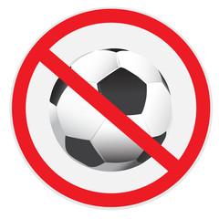 No, soccer, football, sign