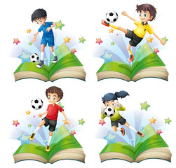 Soccer book set