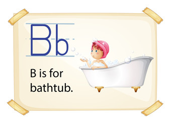 Bath flashcard