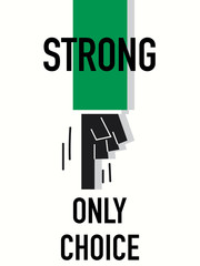 Word STRONG vector illustration