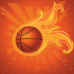 Fire Basketball Ball