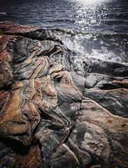 Rock formations at Georgian Bay