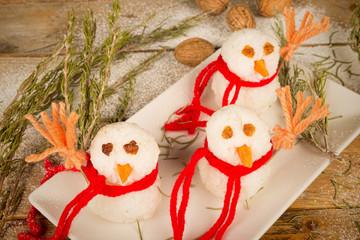 Rice snowmen