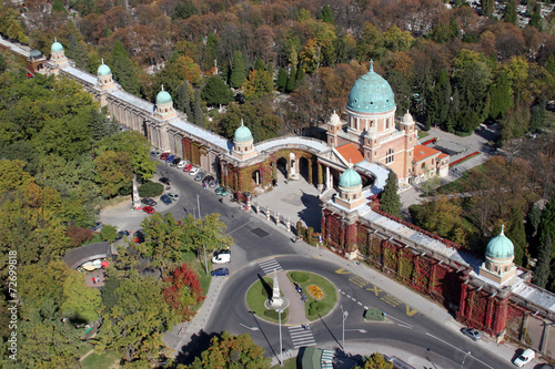 In de dag Begraafplaats Mirogoj cemetery in Zagreb. Croatia.