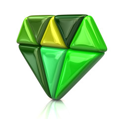Abstract green diamond