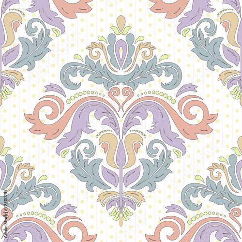 Damask Seamless Vector Pattern. Orient Background - 72700297