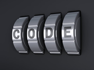 Security password combination. 3d illlustration