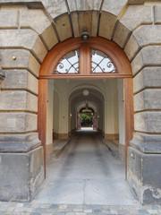 vintage entrance and secret yard, Dresden Germany