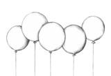 Illustration von fünf Luftballons