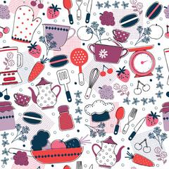 seamless kitchen wallpaper design