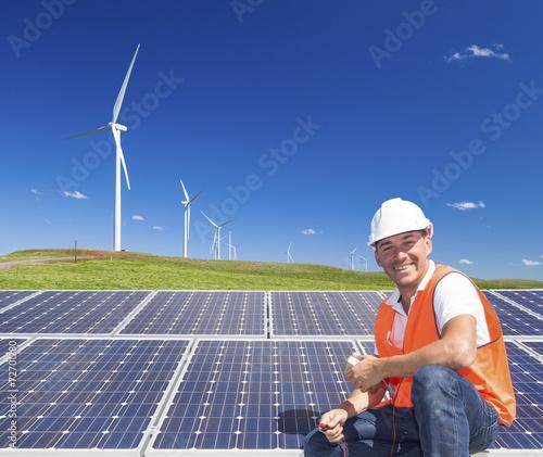 Leinwandbild Motiv Sustainable clean energy