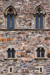 Windows in fortress wall - Bergen Norway