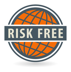 Abstract stamp or label with the text Risk Free
